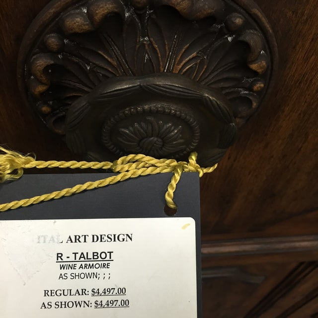 Ital Art Design Wine Armoire with Marble Table - Image 3 of 11