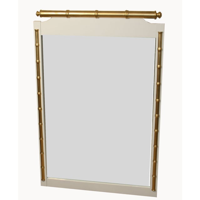 Image of Regency-Style Faux-Bamboo Mirror