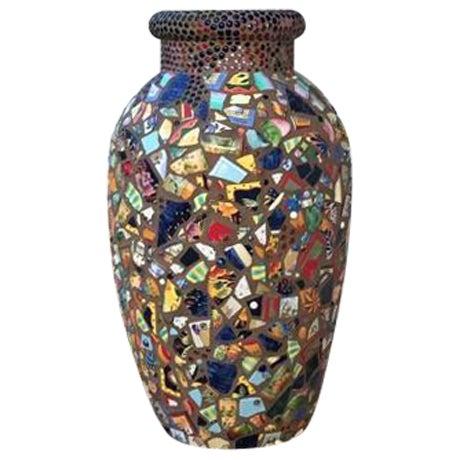 Decorative Mosaic Urn - Image 1 of 6