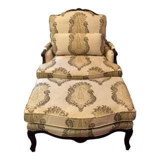 French Provincial Style Chair & Ottoman