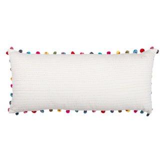 Tasseled Kantha Embroidered Pillow