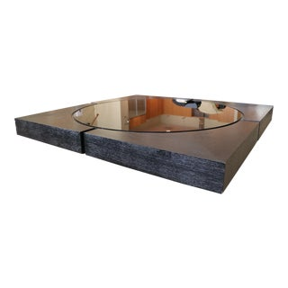 Moura Starr Glass & Wood Coffee Table