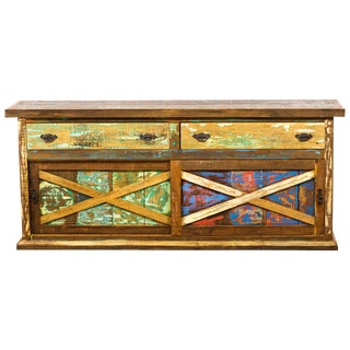 Handmade Reclaimed Wood Vintage Antique Beautiful Eco-Friendly Buffet Moving Sale 50% Off