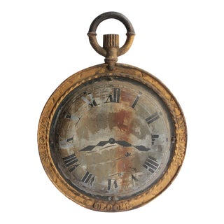 19th Century American Double Sided Watch Maker Trade Sign