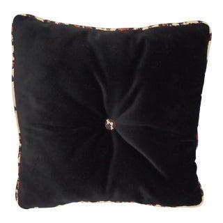 Black Velvet & Leopard Piping Pillow