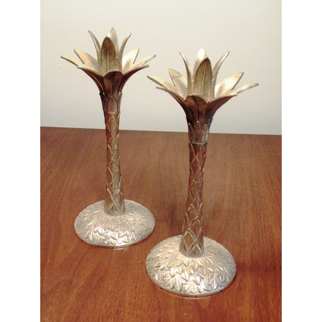 Vintage Brass Pineapple Candle Holders - A Pair - Image 2 of 7