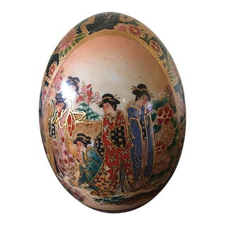 Hand Painted Chinese Porcelain Egg