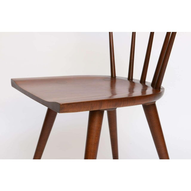 Image of Single Paul McCobb Spindle Back Chair in Dark Maple