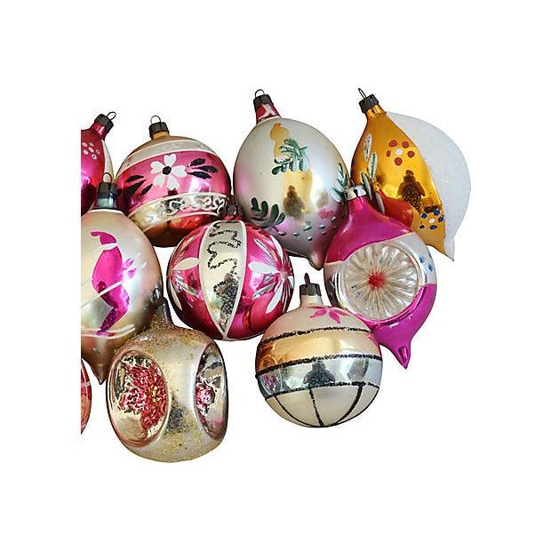 Hand Decorated European Christmas Ornaments w/Box - Set of 12 - Image 4 of 8