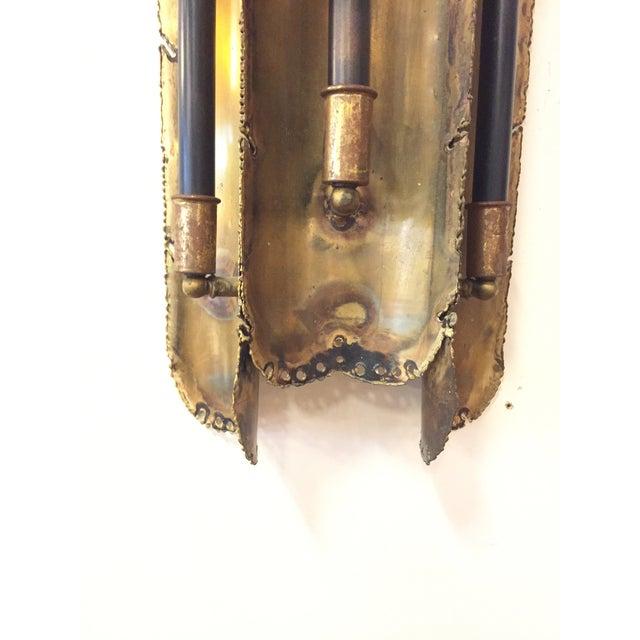 Tom Greene Torch Cut Sconces for Feldman Co. - a Pair - Image 5 of 6