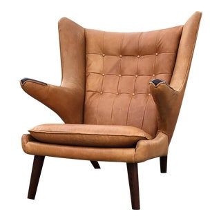 Hans Wegner Papa Bear Wingback Lounge Chair