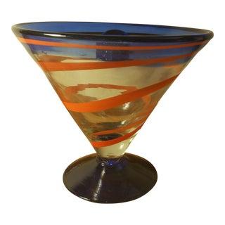 Royal Caribbean Cruise Cobalt & Orange Margarita Glass