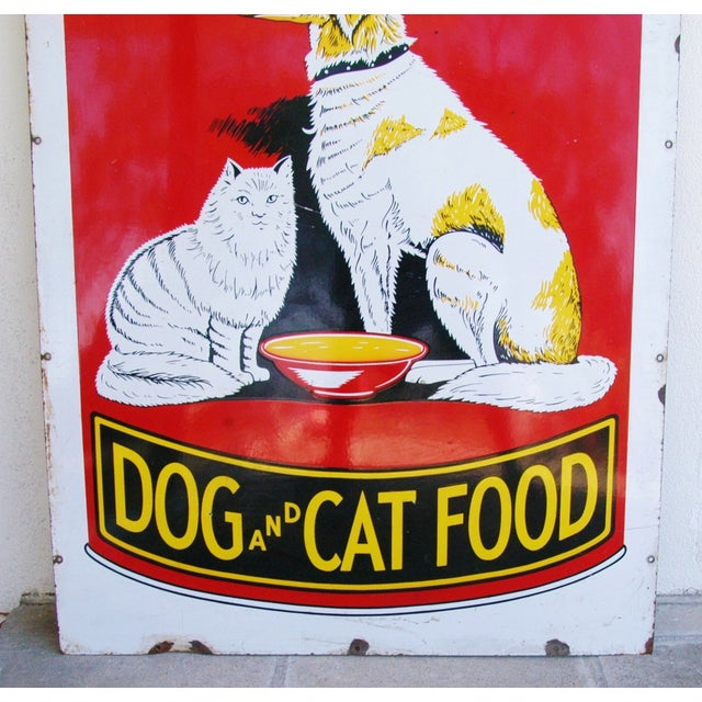 1930s Dr. Ross Dog & Cat Food Advertising Sign - Image 5 of 8