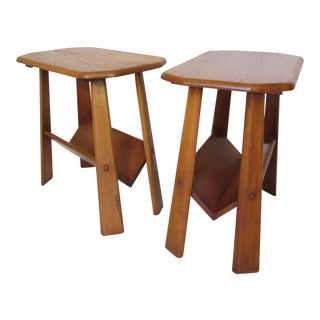 Artisan Made Lodge Style End Tables - A Pair