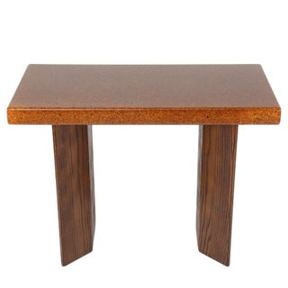 PAUL FRANKL CORK-TOP CONSOLE TABLE