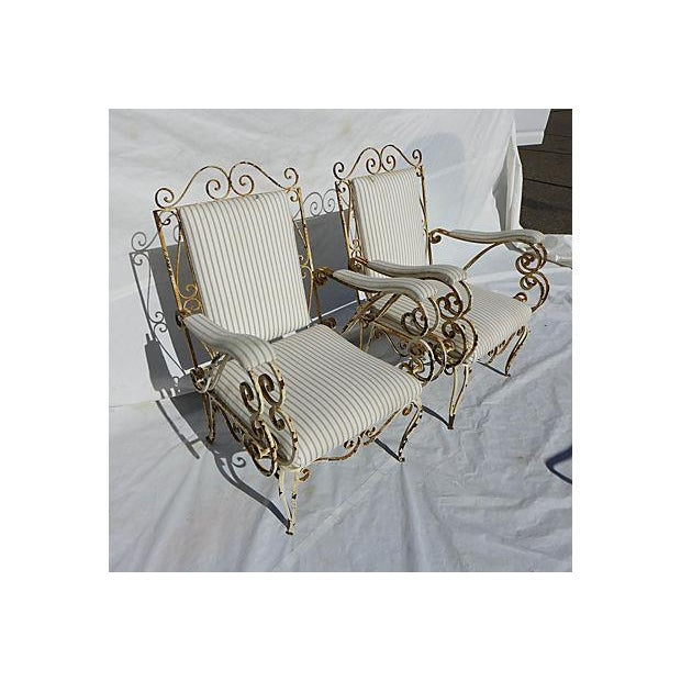 French Style Veranda Chairs - Pair - Image 3 of 7