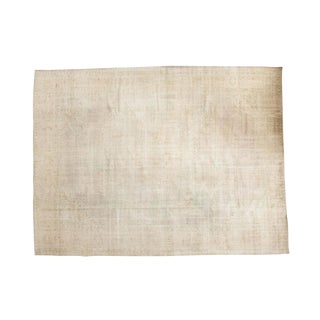 "Vintage Distressed Oushak Carpet- 9'8"" x 12'10"""