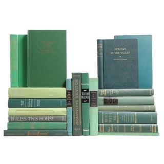 Mid Century Moss & Mint Mixed Books - Set of 20
