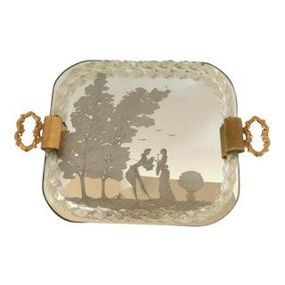 Hollywood Regency Vanity Mirror Tray