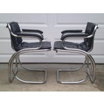 Image of MCM Deco-Revival Chrome Armchairs - Set of 4