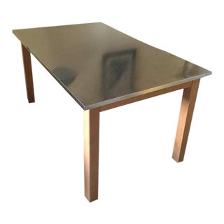 Italian Stainless Steel-Topped Table