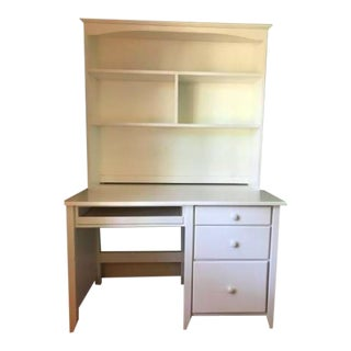 Vermont Tubbs White Desk and Hutch