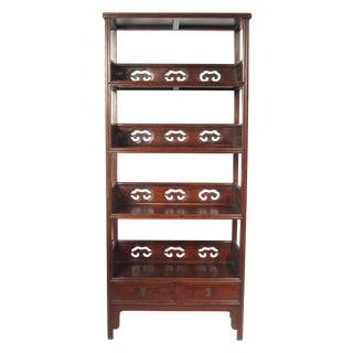 Rosewood Asian Etagere Bookcase Shelving