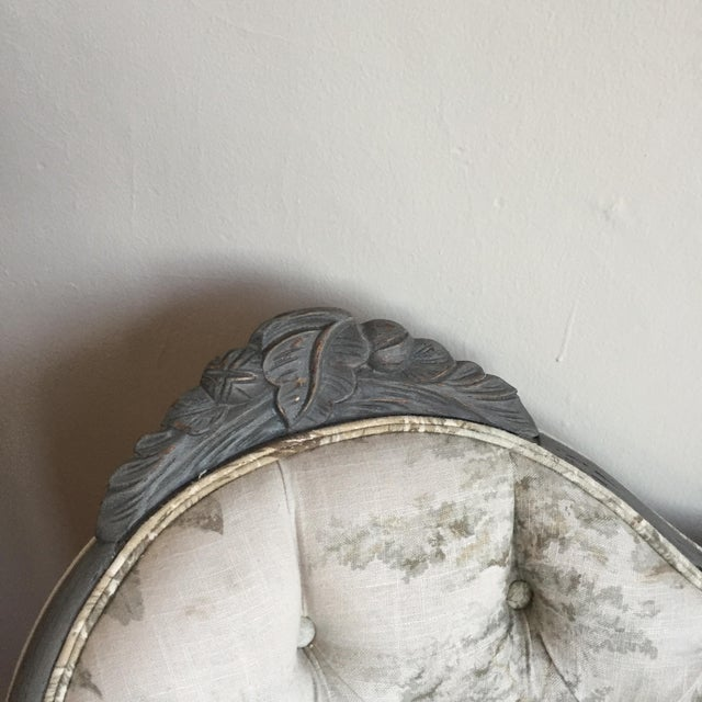 Victorian Reupholstered & Restored Walnut Settee - Image 6 of 8