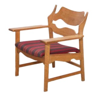 Oak Razor Back Lounge Chair by Henning Kjaernulf
