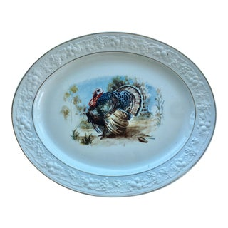 Vintage Turkey Themed Platter
