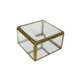 Brass and Beveled Glass Display Box
