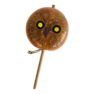 1970's Handmade Gourd Rattle