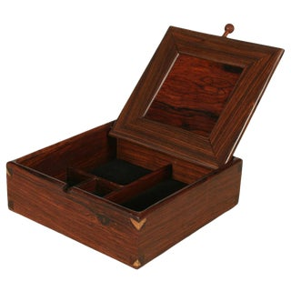 Square Rosewood Jewelry Box