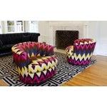 Image of Vintage Swivel Chairs in Martyn Bullard Ikat - 2