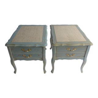 Mid-Century French Nightstand - A Pair