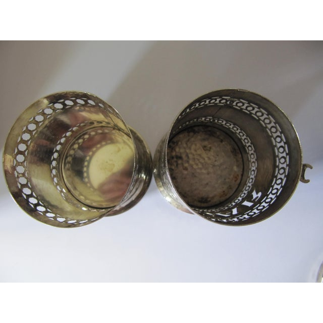 Image of Vintage Silver-Plate Canisters- A Pair