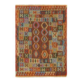 """Kilim Arya Kelley Red/Rust Wool Rug - 5' X 6'4"""""""