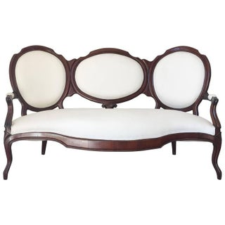 19th Century Carved Mahogany Sofa
