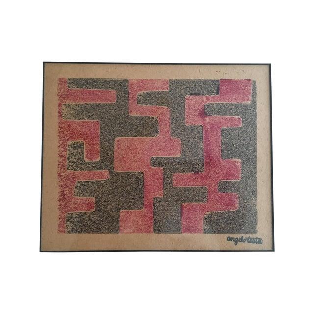 Angelo Testa Mid-Century Geometric Print - Image 1 of 4