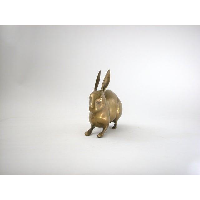 Large Vintage Brass Rabbit - Image 6 of 7