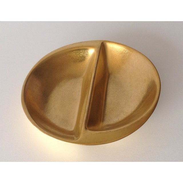 Pickard 24k Gold Divided Floral Motif Dish - Image 4 of 11