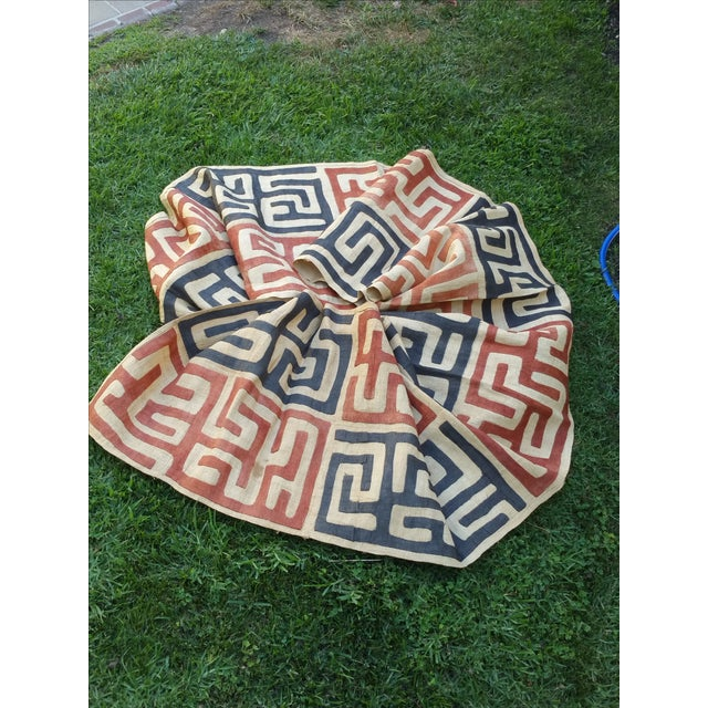Handmade African Kuba Cloth Fabric - Image 2 of 3