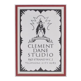 1920's British Art Deco Clement Dane Matted Poster