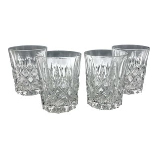 Mid-Century Heavy Lead Crystal Old Fashion or Rocks Glasses - Set of 4