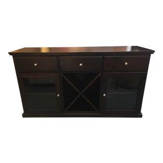 Custom Mahogany Wine Cabinet