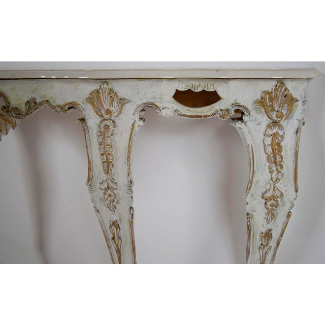 Louis XV-Style Italian Marble Top Wall Console - Image 7 of 8