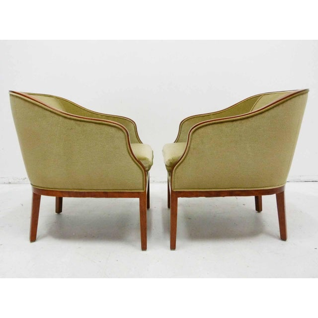 Ward Bennett Mohair Club Chairs - Pair - Image 3 of 10