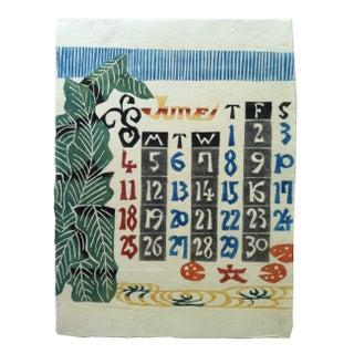 Vintage Japanese Hand Stenciled Print - June