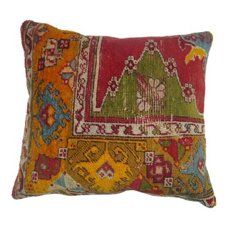 Antique Oushak Rug Pillow