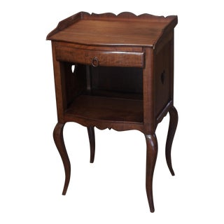 French Walnut 2 tier side/night table